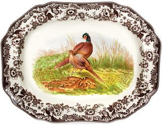 Spode Woodland Pheasant Octagonal Platter