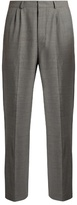 Ami Mid-rise Wide-leg Stretch-wool Trousers