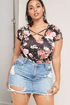 Forever 21 FOREVER 21+ Plus Size Floral Crisscross Top