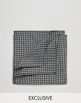 Reclaimed Vintage Check Pocket Square In Black