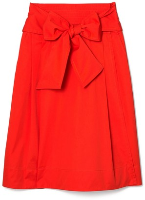 Tory Burch Cotton Wrap Skirt