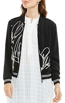 Vince Camuto Abstract Print Bomber Jacket