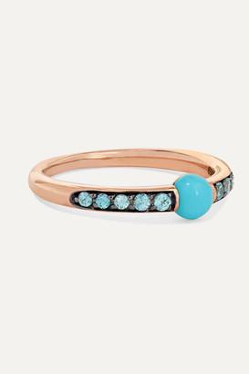 Pomellato 18-karat Rose Gold, Turquoise And Zircon Ring - 11