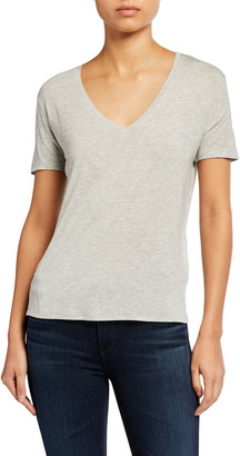 Majestic Filatures V-Neck Short-Sleeve Relaxed Tee