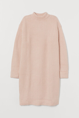 H&M Rib-knit Dress - Pink