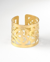 Coldwater Creek Carved hammered cuff bracelet