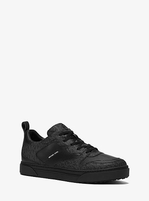 Michael Kors Baxter Logo and Leather Sneaker - Black