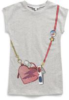 Little Marc Jacobs Girls Fleece Dress With Bag Print (2-10Y)