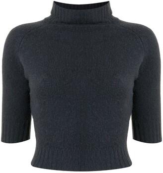 Giorgio Armani Pre-Owned Turtle Neck Cropped Cashmere Top