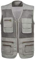 Sempurna Men's Mesh Fishing Vest Lightweight Photography Waistcoat Multi pockets travel Jacket