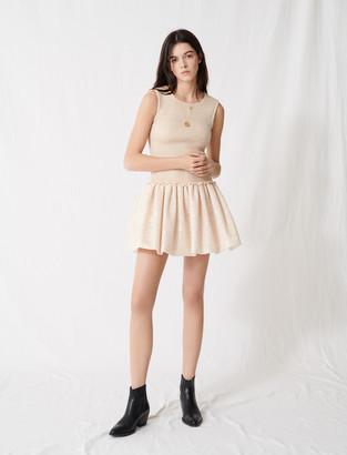 Maje Smocked knit skater dress