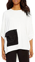IC Collection Cinched Sleeve Front Pocket Top