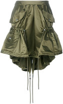 Moschino drawstring nylon cargo skirt