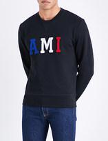 Ami Alexandre Mattiussi Logo-embroidered cotton-jersey sweatshirt