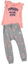 Converse Infant Girls Jogger And Tunic Set Vintage Grey Heather