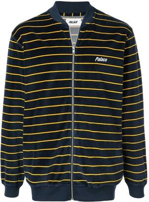 Palace velvet zip sweatshirt