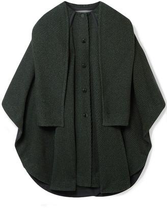 See by Chloe Cape-effect Marled Wool-blend Twill Coat