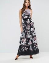 Little Mistress Fall Floral Print Maxi Dress