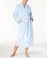 Nautica Textured Plush Wrap Long Robe