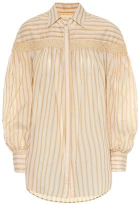 Arjã© The Amelia cotton and silk shirt