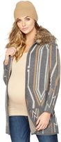 A Pea in the Pod Ella Moss Faux Fur Maternity Sweater