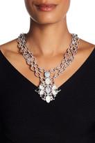 Jenny Packham Crystal Pendant Ribbon Necklace