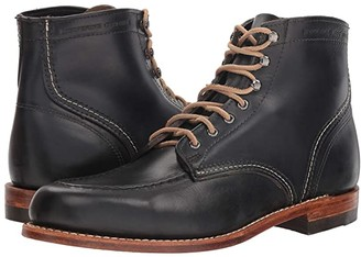 Wolverine Heritage 1000 Mile 1940 Boot (Black Leather) Men's Lace-up Boots