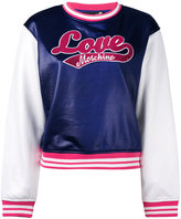 Love Moschino logo patch sweatshirt - women - Cotton/Nylon/Polyester/Spandex/Elastane - 40