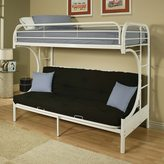 Acme Eclipse White Twin/ Full Futon Bunk Bed