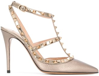 Valentino Rockstud 100mm caged pumps