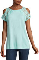 ST. JOHN'S BAY St. John's Bay Short Sleeve Knit Blouse