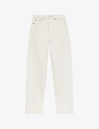 The Kooples Tapered-leg high-rise jeans