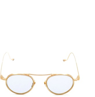 Jacques Marie Mage Apollinaire Round Frame Sunglasses