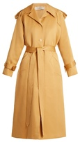 Nina Ricci Peak-lapel tie-waist cotton-blend trench coat