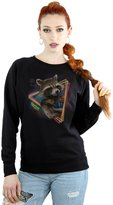 Marvel Women's Guardians of the Galaxy Neon Rocket Sweatshirt