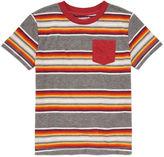 Arizona Stripe Pocket Tee Short Sleeve Crew Neck T-Shirt-Preschool Boys