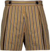 Sandro Pendy striped cotton-blend shorts