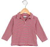 Papo d'Anjo Girls' Striped Pointed Collar Top