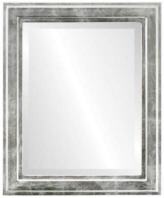 """The Oval And Round Mirror Store Wright Framed Rectangle Mirror in Silver Leaf w/ Black Antique, 25""""x31"""