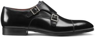 Santoni Double Buckle Leather Dress Shoes