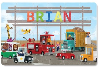 Pottery Barn Kids Trucks Personalized Puzzle