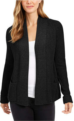Charter Club Cotton Open-Front Cardigan