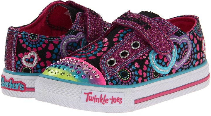 Skechers Twinkle Toes - Shuffles Lights (Toddler/Little Kid) (Black) - Footwear