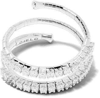 Mattia Cielo 18kt white gold diamond Rugiada ring