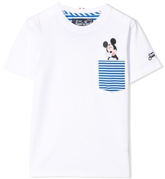 MC2 Saint Barth Mickey Mouse Printed Pocket Boy T-shirt - Disney Special Edition
