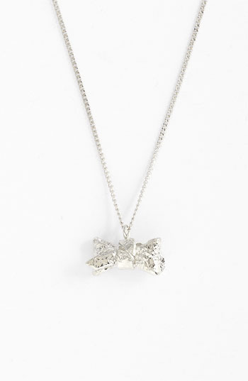 Marc by Marc Jacobs 'Exploded Bow' Pendant Necklace Silver