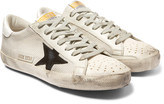 Golden Goose Deluxe Brand Superstar Distressed Mesh, Leather and Suede Sneakers