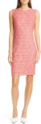 St. John Marled Space Dyed Tweed Knit Dress