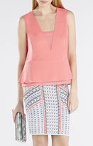 BCBGMAXAZRIA Amerly Sleeveless V-Neck Top