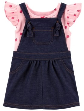 Carter's Baby Girls Strawberry Bodysuit and Skirtall Set, 2 Pieces